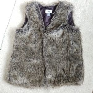 Kids Grey Fur Vest